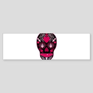 Valentine Sugar Skull Sticker (Bumper)