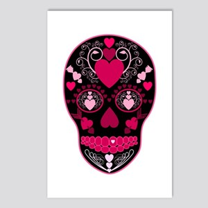 Valentine Sugar Skull Postcards (Package of 8)