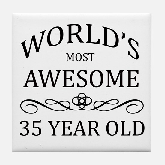 World's Most Awesome 35 Year Old Tile Coaster