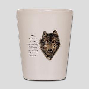 Wolf Totem Animal Guide Watercolor Nature Art Shot
