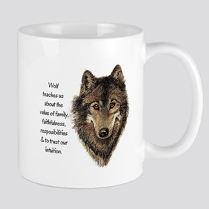Wolf Totem Animal Guide Watercolor Nature Art Mugs