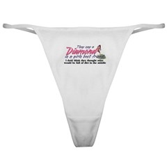 Diamonds are a girl's best friend Classic Thong