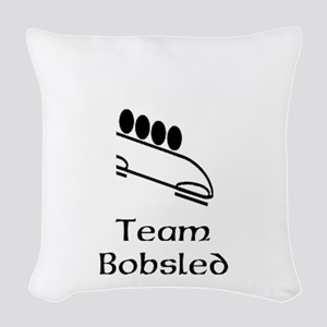 Team Bobsled Black Woven Throw Pillow