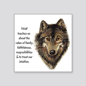 Wolf Totem Animal Guide Watercolor Nature Art Stic