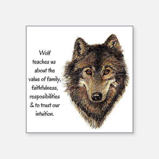 Wolf Totem Animal Guide Watercolor Nature Art Stic