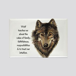 Wolf Totem Animal Guide Watercolor Nature Art Magn