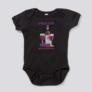 A GLASS A DAY Baby Bodysuit