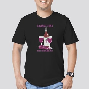 A GLASS A DAY Men's Fitted T-Shirt (dark)