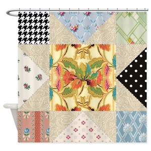 Quilt Pattern Shower Curtains