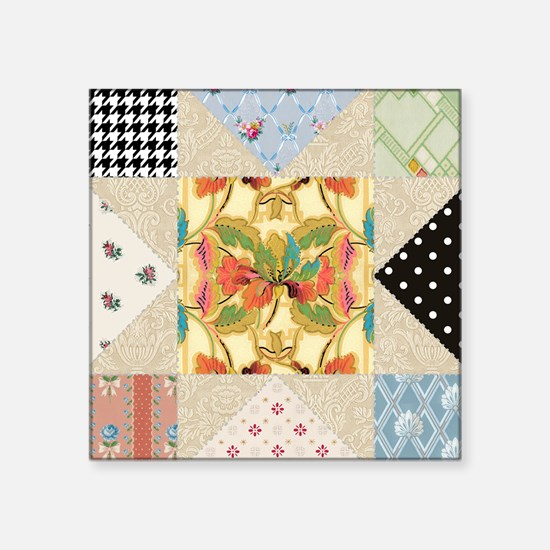 Vintage Star Quilt Pattern Sticker