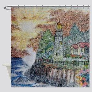 Lighthouse Shower Curtain Shower Curtain