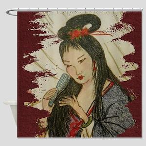 Geisha Girl Shower Curtain Shower Curtain