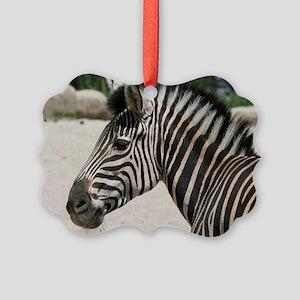 Zebra021 Picture Ornament