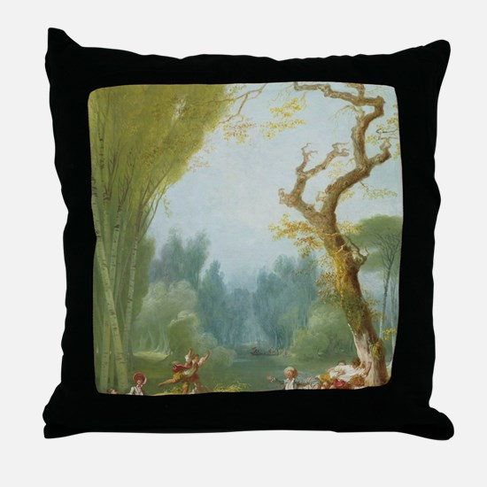 A Game of Horse and Rider Throw Pillow