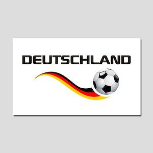 Soccer Deutschland 1 Car Magnet 20 x 12