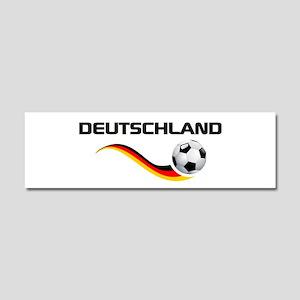 Soccer Deutschland 1 Car Magnet 10 x 3
