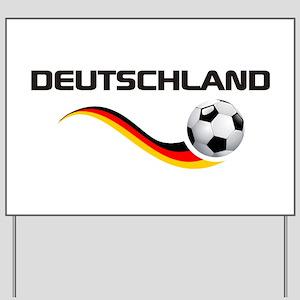 Soccer Deutschland 1 Yard Sign