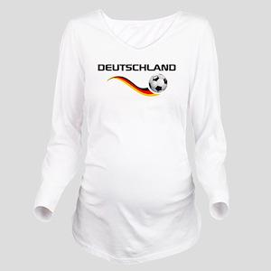 Soccer Deutschland 1 Long Sleeve Maternity T-Shirt