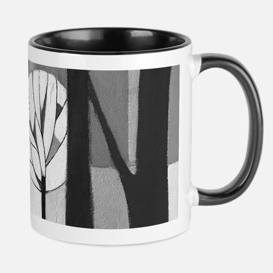 Modernist Urban Winter Mugs