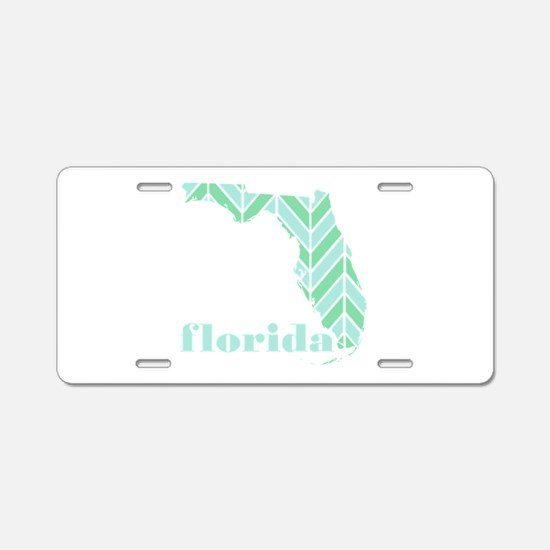 Chevron Aluminum License Plate