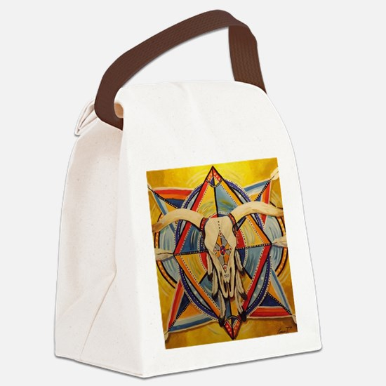 Longhorn Mandela Canvas Lunch Bag
