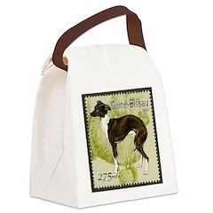 Italian Greyhound Stamp Canvas Lunch Bag
