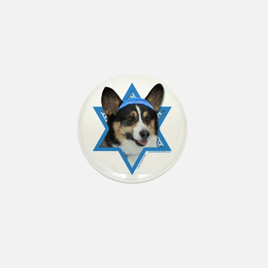 Hanukkah Star of David - Corgi Mini Button