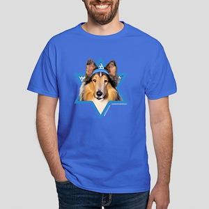 Hanukkah Star of David - Collie Dark T-Shirt