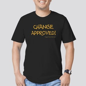 CHANGE APPROVED! Men's Fitted T-Shirt (dark)