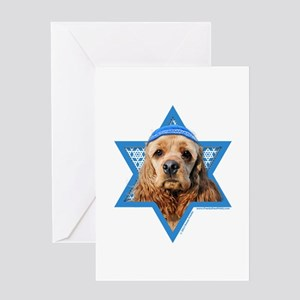 Hanukkah Star of David - Cocker Greeting Card