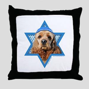 Hanukkah Star of David - Cocker Throw Pillow