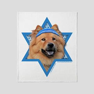 Hanukkah Star of David - Chow Throw Blanket
