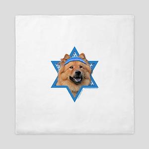 Hanukkah Star of David - Chow Queen Duvet