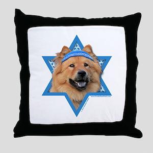 Hanukkah Star of David - Chow Throw Pillow
