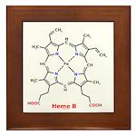 Molecularshirts.com Heme Framed Tile