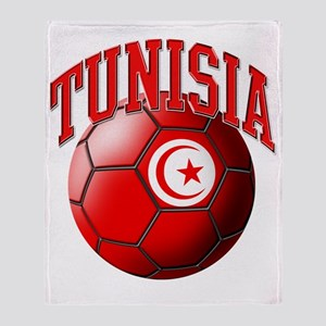 Flag of Tunisia Soccer Ball Throw Blanket