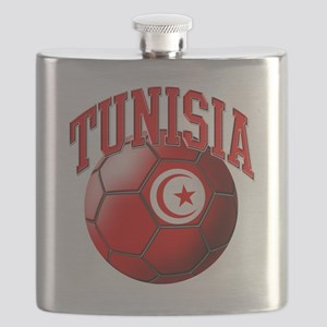 Flag of Tunisia Soccer Ball Flask