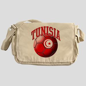 Flag of Tunisia Soccer Ball Messenger Bag