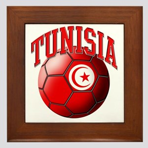 Flag of Tunisia Soccer Ball Framed Tile
