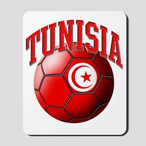 Flag of Tunisia Soccer Ball Mousepad