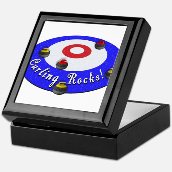 Curling Rocks! Keepsake Box