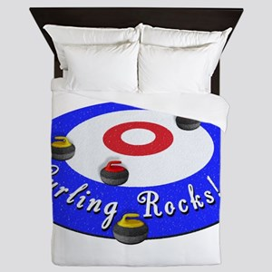 Curling Rocks! Queen Duvet