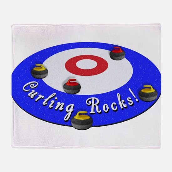 Curling Rocks! Throw Blanket