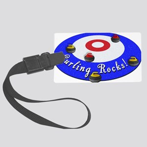 Curling Rocks! Luggage Tag