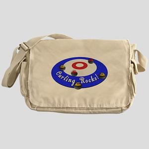 Curling Rocks! Messenger Bag