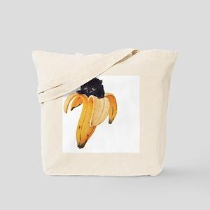 Banana Kitty Tote Bag