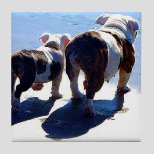 English Bulldogs Just The Two Of Us Tile Coaster