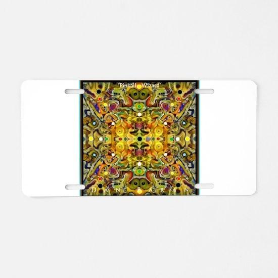 Pinball Wizard Aluminum License Plate