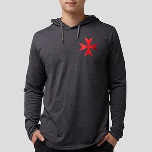Red Maltese Cross Long Sleeve T-Shirt