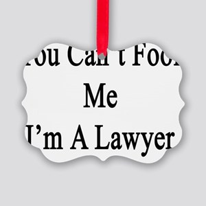 You Can't Fool Me I'm A Lawyer  Picture Ornament